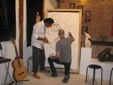 El poeta le lanza un verso a Jose, magnífico ilustrador que nos deleitó con una obra resultado de la inspiración de los versos del poeta